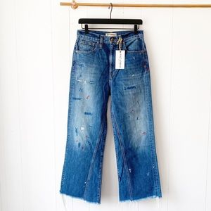 NWT Rivet & Thread Madewell Paint Splatter Jeans